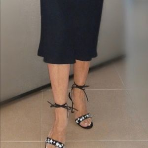 Jimmy Choo Ankle Tie  Heels w/ Sparkle Stars SZ35